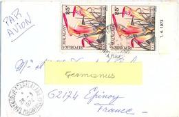 MADAGASCAR TANANARIVE-TSARALALANA TàD 28-3-1974 PAIRE NEPENTHES PERVILLEI  25 F. YT 532 - Madagascar (1960-...)