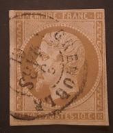 Empire No 13 B Obl Cachet à Date GRENOBLE , Isère,  3 Mars 1861 , TB - 1853-1860 Napoleon III