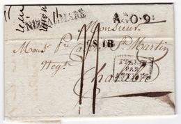 Lettre Nice 1824 Nizza Di Mare Regno Di Sardegna Chalabre Aude - Marcofilie (Brieven)