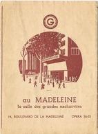 Programme Actualités Gaumont: La Belle Et La Bête De Jean Cocteau Avec Jean Marais - Cinéma Madeleine - Programs