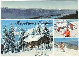 Montana Crans : SCHLITTEN , SKI / SCHI , BIKINI SKIING  - Haut-Plateau, Alpes Valaisannes - (Schweiz/Suisse) - VS Valais