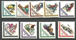 Hungary 1962 Motorsport, Motor Cycles, Racing Car, Mi 1889-1897 MNH(**) - Ungebraucht