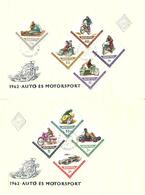 Hungary 1962 Motorsport, Motor Cycles, Racing Car, Mi 1889-1897 FDC - Briefe U. Dokumente