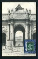 Semeuse N° 137 Sur Carte Sur Porte Timbre VICHY GENEREUSE Case 14 N° 1443 Yvert (livret De L'expert 2010) - 1906-38 Semeuse Camée