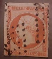 Empire Non Dentele No 16 A, 40 C ORANGE VIF Obl ANCRE Des Messageries Maritimes,  1 Voisin,  TB - 1853-1860 Napoleon III