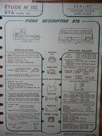 """Fiche """"Revue Technique Automobile"""" (RTA) Avril 1957 - Berliet Camions GLC6 - Cars PLB6 - Auto"""