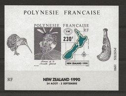 Polynésie Y&T BF 17 Nouvelle Zélande N** MNH - Blocks & Kleinbögen