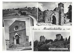 2765 - SALUTI DA MONTICCHIELLO PIENZA SIENA 4 VEDUTE 1960 CIRCA - Altre Città