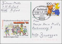 Postleitzahl Des Jahres 1999: 99999 Körner 9.9.99-9 Auf PSo 53 NAJUBRIA'98 - Post