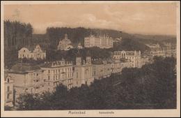 Ansichtskarte Marienbad - Kaiserstraße, EF MARIENBAD 17.5.12 Nach Bergen/Vogtl. - Cartes Postales