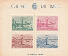 """Bloc Vignette """"Journée Du Timbre Le Havre - Société Philatélique Havraise"""" 1953 - Commemorative Labels"""