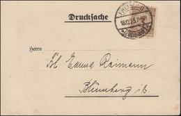 338 Korbdeckel-Muster 3 Pf EF Auf Drucksache FREIBURG / BREISGAU 18.12.1923 - Deutschland