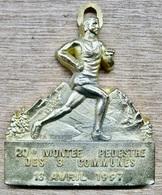 MEDAILLE ATHLETISME 20 E MONTEE PEDESTRE DES 3 COMMUNES 13 AVRIL 1997 LA TRONCHE CORENC LE SAPPEY ALPES TROPHEES ANNECY - Athlétisme