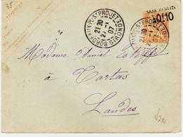 France, Sur Entier Taxe Réduite  Sur Mouchon  De BX  Saint Projet  ,  1907 TB - Ganzsachen