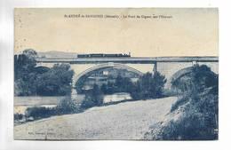 34 - St-ANDRE De  SANGONIS ( Hérault ) - Le Pont De Gignac Sur L' Hérault - Train Sur Le Pont. Carte Bleutée - France