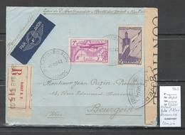 Maroc - Lettre Recommmandée  Avec Cachet De Censure - Rabat - Bab El Alou - 1942  - Marcophilie - Maroc (1891-1956)