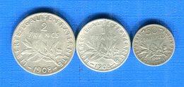 France  1908    2fr +1  Fr  + 0.50  Arg - France