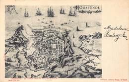 Oostende Ostend  La Ville D'Ostende Au XVIIe Siecle Kaart Van Stad Oostende In De 17de Eeuw       M 1868 - Oostende