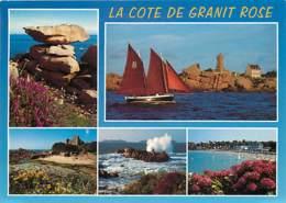 22 - Ploumanach - Multivues - Bateaux - Flamme Postale De La Roche Derrien - Voir Scans Recto-Verso - Ploumanac'h