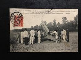 MIL - CAMP DE SISSONNE - Artillerie Lourde De Campagne - Rimailho - Pièce De 155 C -  M09F - Manoeuvres