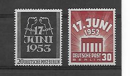 Berlijn  N°  96/97  Xx Postfris Cote Yvert 2014 50 Euro - Nuevos