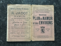 20C -  Plan Publicitaire Grands Magasins De La Station J Van Hufflen De La Ville De Namur Et Environs 1923 - Cartes Routières