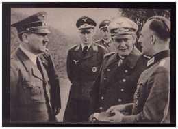 DT- Reich (008988) Propagandakarte Der Führer Ung Göhring Lassen Sich An Der Westfront Von Den Kämpfen, Ungebraucht - Germany