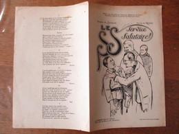 LE S.S. (SERVICE SALUTAIRE) DEDIE AU LIEUTENANT GENERAK MEDECIN LEBRUN PAROLES DE RODAN MUSIQUE DE F. ROLAND - Noten & Partituren