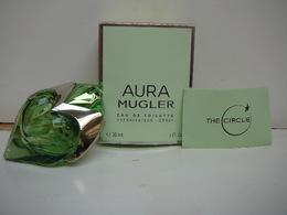 """MUGLER """" AURA """" VAPO 30 ML EDT VIDE + BOITE + ENVELOPPE CERCLE  LIRE ET VOIR !! - Bottles (empty)"""
