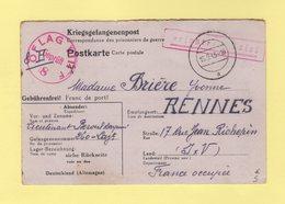 Correspondance De Prisonniers De Guerre - Offlag VIII F - 16-9-1943 - Destination Rennes - Marcofilia (sobres)