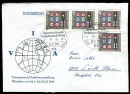 09430) BRD - Mi 468 - FDC - 5Pf           IVA Verkehrsschilder, Ampel - BRD