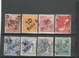 SBZ 1948: 8 Handstpl.-M. Aus Bez. 16, Davon 7 M. Altprüfersign., S. Scan U. Beschreib., Aus Mi. 170 III -180 III **/* - Zone Soviétique