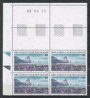 TAAF 2000  N° 269 ** Bloc De 4 Coin Daté Neuf MNH Superbe C 61 € Faune Oiseaux Manchots Empereurs Baie Larose - Terre Australi E Antartiche Francesi (TAAF)