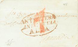 Prefilatelia, Andalucía. Sobre. 1841. ANTEQUERA A GRANADA. Marca ANTEQUERA / ANDALUCIA / ALTA (P.E.4) Edición 2004. MAGN - Spanien