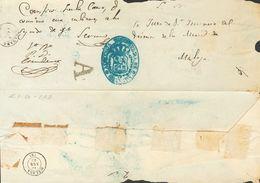 """Prefilatelia, Andalucía. Sobre. 1863. Plica Judicial De GRANADA A MALAGA. Marca """"A"""" De Abono, En Negro De Granada (P.E.3 - Spanien"""