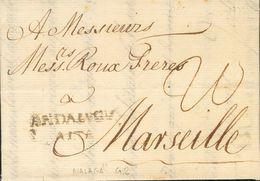 Prefilatelia, Andalucía. Sobre. 1777. MALAGA A MARSELLA (FRANCIA). Marca ANDALVCIA / ALTA (P.E.5) Edición 2004. MAGNIFIC - Spanien