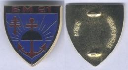 Insigne Du Bataillon De Marche N° 21 - Armée De Terre