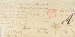 Prefilatelia, Castilla Y León. Sobre. 1853. Frente De Plica Judicial Con Origen En BRIVIESCA. Baeza BRIVIESCA / RIOJA Y  - Spanien