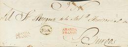 Prefilatelia, Castilla Y León. Sobre. (1834ca). Frente De Plica Judicial De ROA A BURGOS. Marcas ROA (P.E.1) Edición 200 - Spanien