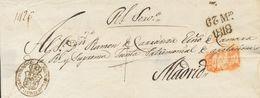 Prefilatelia, Comunidad Valenciana. Sobre. 1818. Plica Judicial De VALENCIA A MADRID. Marca SE FRAN / QUEO EN / VALENCIA - Spanien