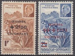 N° 284 Et N° 285 - X - ( C 1949 ) - Madagascar (1889-1960)