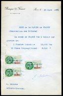Numismatique - Autographe D'Ernest Pierre DELOCHE (1861-1950) - Graveur De 2 Billets - INDOCHINE - URUGUAY - Banconote