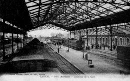 5253 Cpa Aurillac - Intérieur De La Gare - Aurillac