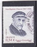 4110 Oblitéré Rond (2007)  Charcot Portrait Du Navigateur - Usati