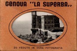 DT 9 -GENOVA LA SUPERBA - 20 VEDUTE IN VERA FOTOGRAFIA - Dimensioni Mm. 100 X 70 - Dépliants Turistici