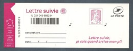 France, Autoadhésif, Adhésif, 1217A, LS 4, Neuf **, TTB, Marianne De Ciappa Et Kawena, Lettre Suivie 20g, Rose Carminé - France