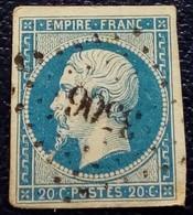 458 - 14 A - PC 3506 Vauvillers. Haute-Saone 69 - 1853-1860 Napoleon III