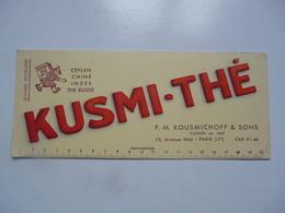 VIEUX PAPIERS - BUVARDS : Kusmi-Thé - Alimentare