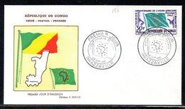 CONGO 152 Fdc Union Africaine Et Malgache, Drapeau - Zonder Classificatie