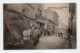 - CPA LA COURONNE (16) - Rue Principale 1918 (belle Animation) - Photo-Edition BRAUN 3444 - - Francia